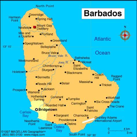 printable barbados road map barbados regions map