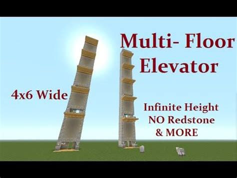 Cool House Blueprints minecraft tutorial multi floor elevator no command