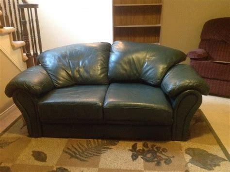 hunter green leather sofa leather sofa loveseat hunter green nepean ottawa