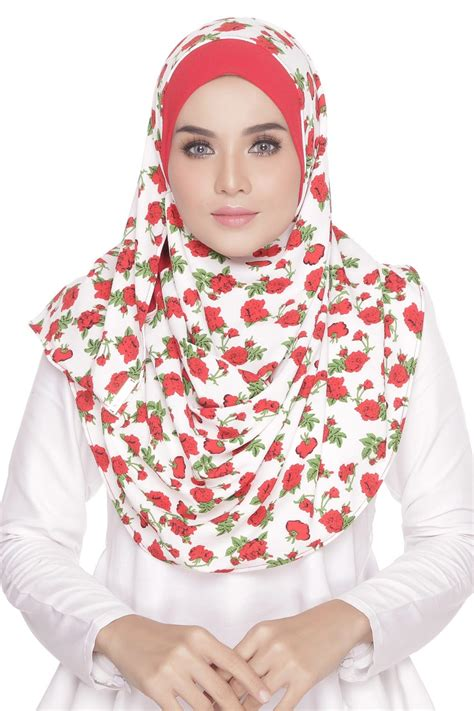 Pasmina Instant Flowerfly must floral shawls from tudung2u this