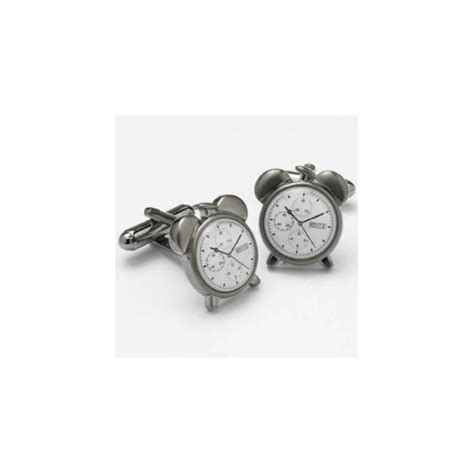 alarm clock novelty cufflinks from ties planet uk