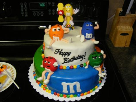 m m birthday cake cakecentral