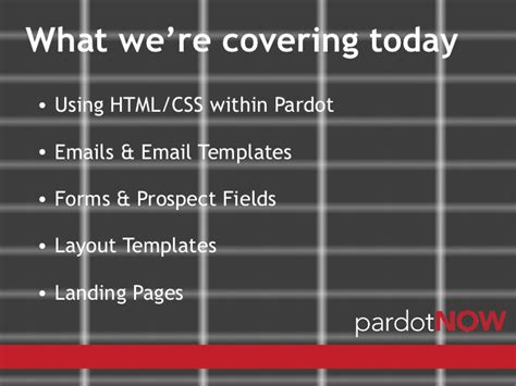 Pardot Now Designing Within Pardot Pardot Html Email Templates