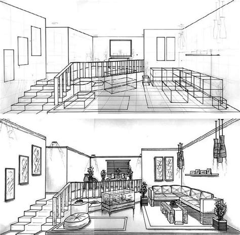 interior design drawing set one point perspective drawing the ultimate guide crates and drawings