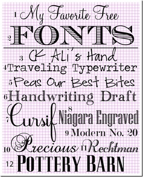 printable text fonts my favorite free fonts in my own style