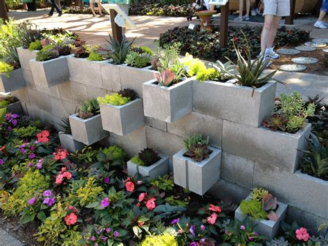 seeking a greener thumb cinder block succulent planter