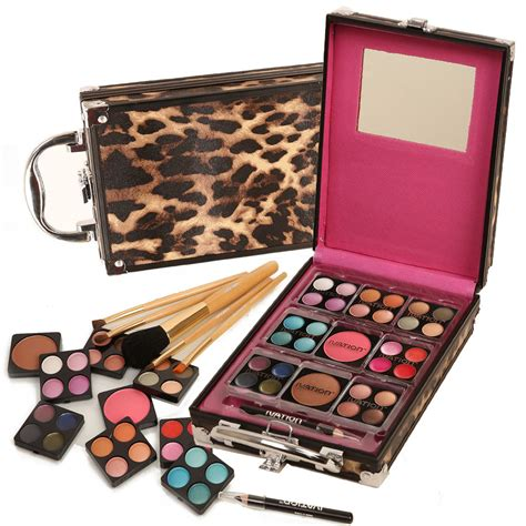 ivation makeup kit 36 pc set including eyeshadow blusher lip gloss and brush ebay