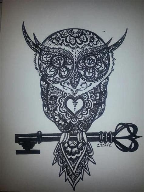 owl tattoo henna henna owl on a key my style pinterest