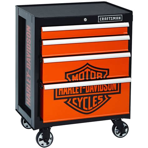 Craftsman 4 Drawer Tool Chest by Craftsman Harley Davidson 26 In Roll Away 4 Drawer Chest Tool Boxes Centers More Shop