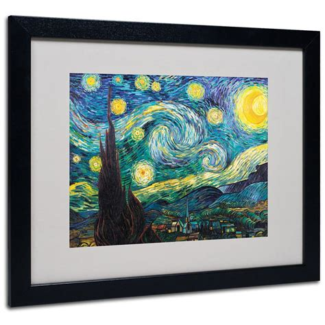 home interiors and gifts framed art quot starry night quot framed matted art by vincent van gogh