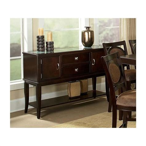 Steve Silver Company Montblanc Server Transitional Buffet Silver Buffet Table