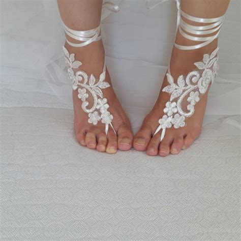 Frame Foto Sandal bridal accessories silver frame ivory lace wedding