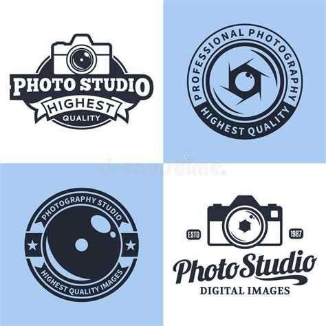design studio logo vector templates photography studio logo labels icons and design elements