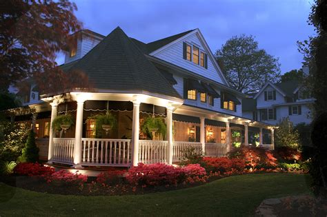 Cottage Style Outdoor Lighting Exterior Uplighting Home Ideas
