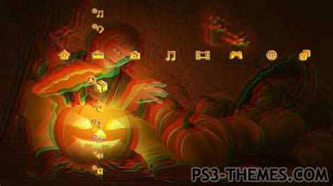 halloween show themes ps3 themes 187 halloween 3d slide show theme