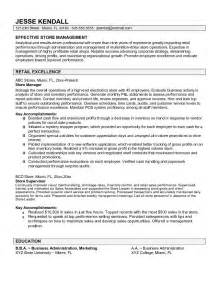 Fashion Sales Manager Sle Resume by Fashion Retail Management Resume Sales Retail Lewesmr