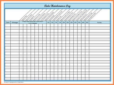 car maintenance schedule spreadsheet checklistte downloads vehicle