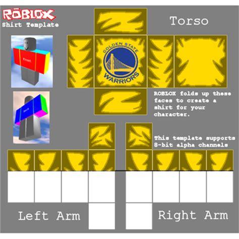 Golden State Warriors T Shirt Xp Designs Roblox Roblox Shirt Template Design