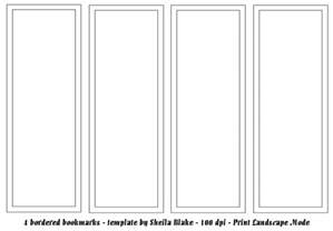 free blank bookmark templates to print blank bookmark templates calendar template 2016
