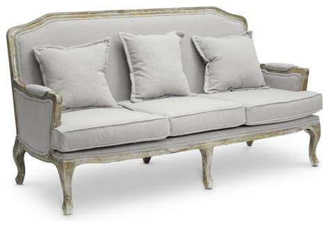 Traditional Classic Sofa by Baxton Studio Baxton Studio Constanza Classic Antiqued