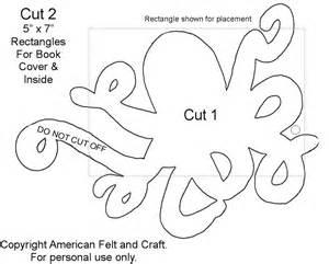 Octopus Template by Felt Octopus Needlebook American Felt Craft