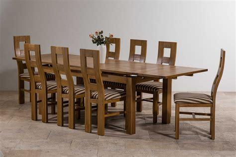 Extending Oak Dining Table Seats 12 6ft X 3ft Rustic Solid Oak Extending Dining Table Seats Up To 12 Extended 8 Wave Back