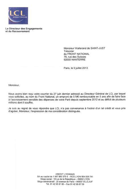 Demande De Credit Bancaire Lettre Pr 234 T Russe Du Front National Les Conseils D Expert Pour Ne Pas Se Faire Retoquer Sa Demande De
