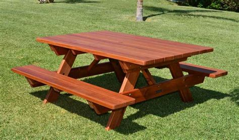 redwood picnic tables and benches redwood picnic table customize your redwood table