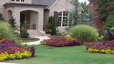 Flower Garden Ideas For Front Of House Youtube Pictures Of Flower Gardens In Front Of House