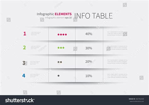 modern infographics template options steps rows stock