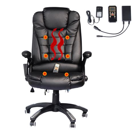 heated desk chair cover executive ergonomic heated vibrating computer desk office