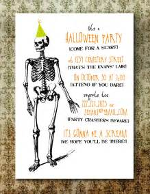 printable spooky halloween party invitation