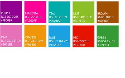 metro colors standard tile colors windows 8 williams notatblog