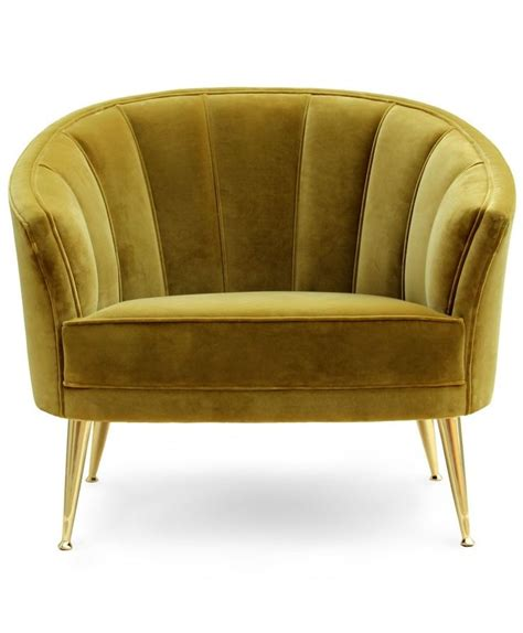 armchair lounge modern furntiure velvet chair for luxury decors