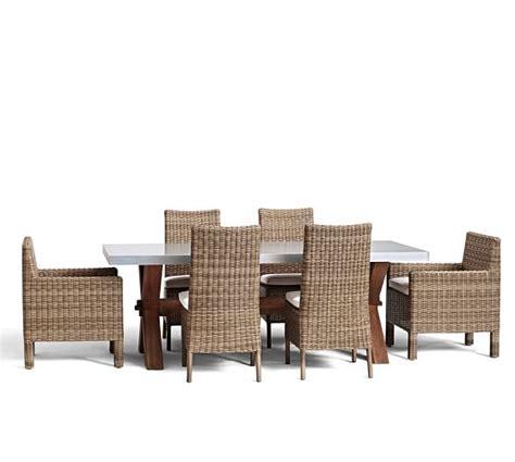 abbott zinc top rectangular dining table torrey chair