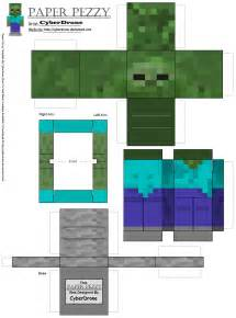 paper pezzy zombie minecraft by cyberdrone on deviantart