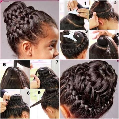 hairstyles for short hair double crown double crown braid with donut bun make braiding hairstyle