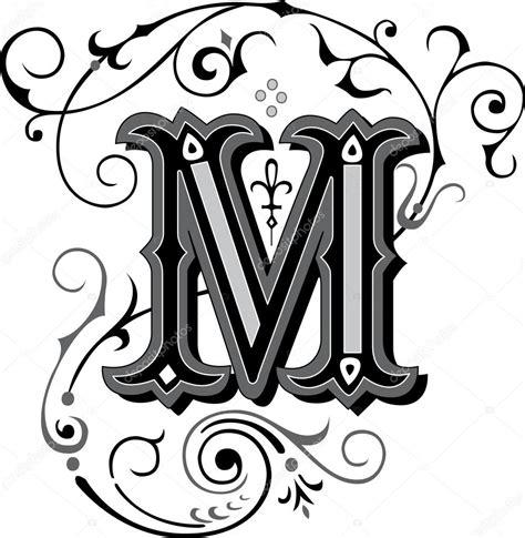 m styler magnifiquement d 233 cor 233 es des alphabets anglais lettre m image vectorielle huangart 169 54186667