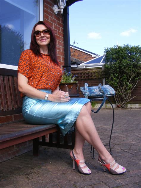 marks and spencer metallic leather skirt