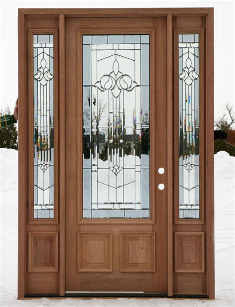 Door With Sidelights by Home Entrance Door Exterior Doors Wood