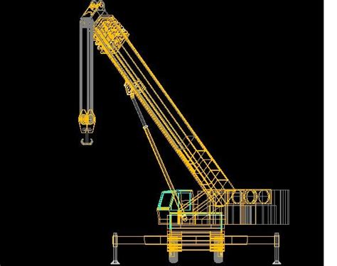 mobile dwg mobile crane drawing autocad