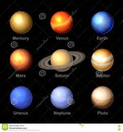 planets colors planets of solar system icons vector stock vector image