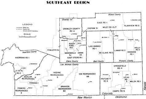 map of southeast colorado region map southeast cde