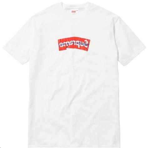 t shirt supreme supreme supreme x cdg box logo shirt white size m