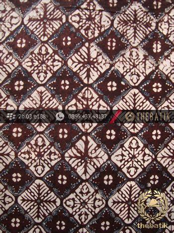Batik Klasik jual batik klasik jogja motif nithik kotak sogan