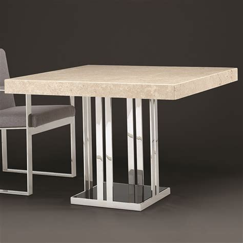Marble Square Dining Table Travertine Marble Square Dining Table Robson Furniture