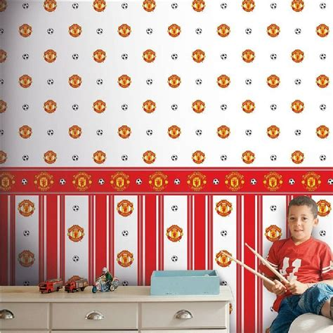 manchester united wall murals manchester united mufc childrens football wallpaper border