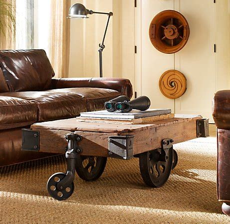 Restoration Hardware Cart Coffee Table Furniture Factory Cart A Coffee Table You Can Put Your Up On