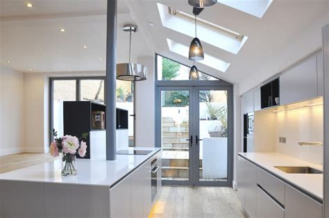 Double Kitchen Island Designs by Complete Renovation Of Semi Detached House London