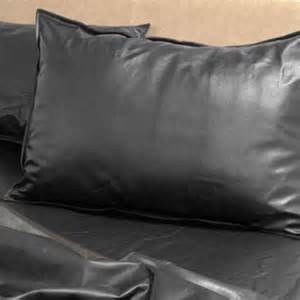 leather pillow cases between the sheets